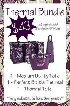 November special from thirty one...medium utility totes are back!
