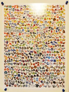 """This is an 18""""x24"""" poster containing EVERY. SINGLE. POKEMON. of all 649 of them PLUS their alternate forms! Each Pokemon was drawn in Illustrator in vector form... one... by... one... Makes for a great conversation piece in any room! :)  If you would like a better, digital look at this poster, ..."""