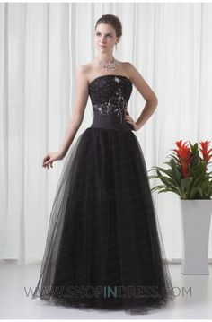 black ball gown dress