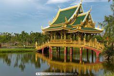 Covered Bridge in Thailand, Muang Boran, Samut Prakan.