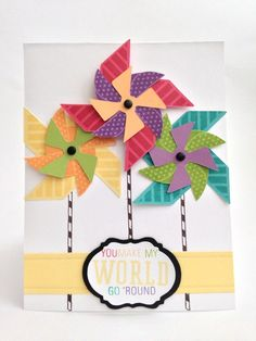Courtney Lane Designs: You make my world go round card made using the Artiste cartridge and the May stamp of the month.