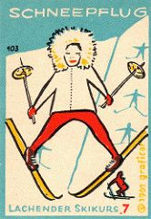 Match labels, skiing (Germany 1961)