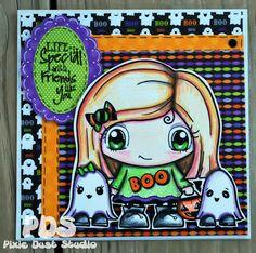 Pixie Dust Studio Digital stamp! Pixie BOO!