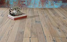 Vergrijsd oud Frans eiken planken vloer