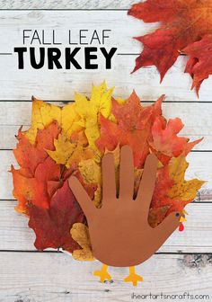 Fall Leaf Handprint Turkey Craft - I Heart Arts n Crafts