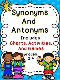 Synonyms and AntonymsThis Synonyms and Antonyms Activity Pack includes activities for small groups, centers, whole group instruction, and individual student practice.  This set includes guided practice lessons and hands on activities to help students develop their reading skills and master their understanding of synonyms and antonyms.