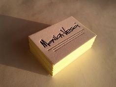 Edge Painted Letterpress Business Cards /// set of 100. £125.00, via Etsy.