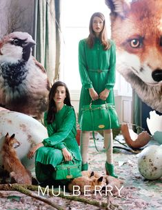 Mulberry ad.  Emerald, Pantone Color of the Year 2013 #emerald
