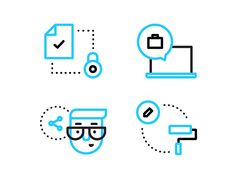 Improvement Illustrations by Dmitri Litvinov for Input Logic #icon #picto
