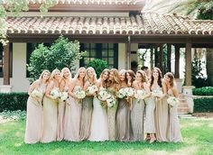 Non-Traditional Bridesmaid Dresses for Your Summer Wedding via @WhoWhatWear Dresses with an element of sparkle ensure your bridesmaids will stand out from the crowd both during and after the ceremony. Select a softer shade so that the effects of the color and the beading combined aren't overwhelming.