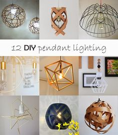 diy round-up Pendant lighting #light #tutorial
