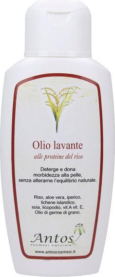 Olio Lavante al Riso 200 ml Skin Elasticity, Body Lotion, Aloe Vera, Shampoo, Bottle, French, Beauty, Smooth Skin, French People