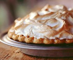 Chocolate Angel Pie An intensely flavored chocolate filling in tender pastry, topped off with a fluffy meringue, creates a luscious treat for the dessert table.