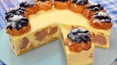Větrníčkový smetanový dort