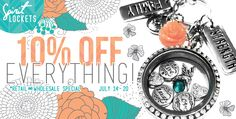 TEN PERCENT OFF ENTIRE STORE!!!! get your locket or boho bracelet NOW!!!