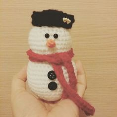 Snowman amigurumi