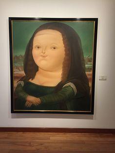 Museu Botero e a famosa obra da Monalisa