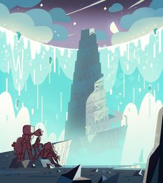 Yes - my whimsy board is everything steven universe; I am a geek, no shame :) Steven Universe Wallpaper, Steven Universe Background, Storyboard, Kevin Dart, Cgi, Perla Steven Universe, Anime Backgrounds Wallpapers, Universe Art, Environment Design