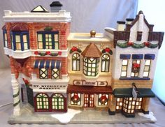 ST NICHOLAS SQUARE GAZETTE COCO'S CAFE WINTERS BAKERY CHRISTMAS VILLAGE BUILDING
