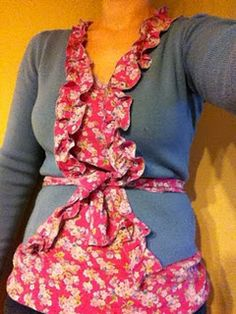 dress to cute top and accented cardigan