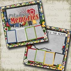 premade scrapbook pages. Double page Layouts. like look! Scrapbook Box, Recipe Scrapbook, Scrapbook Titles, Birthday Scrapbook, Disney Scrapbook, Scrapbook Page Layouts, Scrapbook Stickers, Scrapbook Supplies, Scrapbook Templates