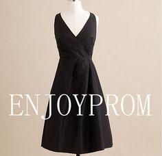 Sheath/Column V-neck Taffeta Knee-Length Bridesmaid/Evening/Prom Dress$75.00