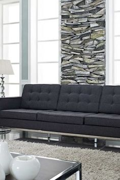 Black Couch #Deco Living Room