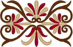 Art Nouveau Flourish Element Embroidery Design Stencil Patterns, Stencil Designs, Texture Painting, Fabric Painting, Arabesque, Painted Concrete Porch, Machine Embroidery Designs, Embroidery Patterns, Art Nouveau