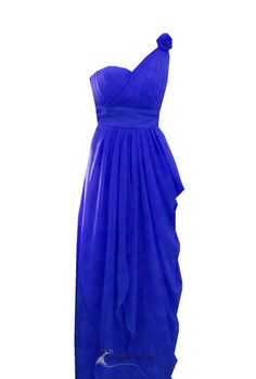 Royal Blue One Shoulder Bridesmaid Dresses ---wld love this in hot pink