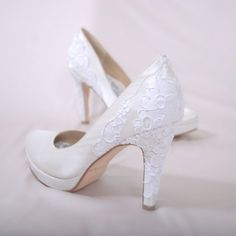 "Comfortable wedding shoes...sounds to good to be true...but they are very nice  ""Hey Lady Heel, Boy Bridal Shoes"""