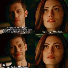 """The Kindness of Strangers"" Hayley And Klaus, Klaus And Hope, Vampire Diaries Memes, Vampire Diaries Seasons, The Originals 3, Vampire Diaries The Originals, Daimon Salvatore, Tvd Quotes, Kindness Of Strangers"