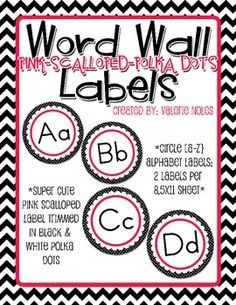 Included in the download are Round labels Aa-Zz [2 labels fit on a 8.5x11 sheet of paper]....