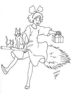 Kiki la petite sorcière sur son balai