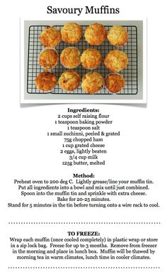 This recipe could be adapted by adding stronger cheese, onion, herbs. All to individual taste. Savory Cupcakes, Savory Muffins, Savory Snacks, Healthy Snacks, Cheese Muffins, Mini Muffins, Healthy Recipes, Baby Food Recipes, Snack Recipes
