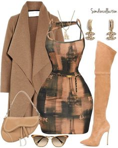Boujee Outfits, Cute Swag Outfits, Dressy Outfits, Dope Outfits, Polyvore Outfits, Stylish Outfits, Fashion Outfits, Black Women Fashion, Look Fashion