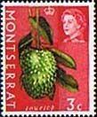 Montserrat 1966 Queen Elizabeth II SG 162 Soursop Fruit Fine Mint SG 162 Scott 161 Other Stamps For sale Here