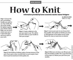 PDF handouts ::: The Knit Basics handout includes