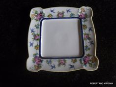 Vintage Very Vivid  color Square Plate made by by momsvintagegoods, $5.00