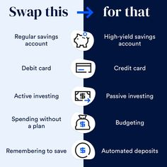 """Bankrate on Instagram: """"These small changes could make a big difference in your overall financial plan.   Here are some of our favorite benefits of making…"""" High Yield Savings Account, Savings Accounts, Small Changes, Financial Planning, Accounting, Budgeting, Investing, How To Plan, Big"""