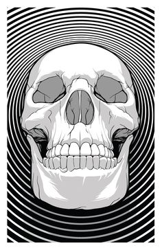 This is a human skull with concentric circles. Why concentric circles