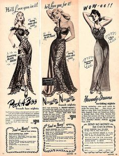 Vintage Lingerie, nightgowns. Don't get why people would ever prefer short babydolls over this... Think Ginger Rogers in her beautiful 30s nightgowns <3