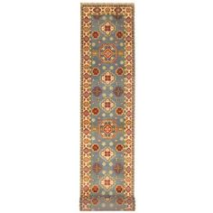 Shop for Herat Oriental Indo Hand-knotted Tribal Kazak Light Blue/ Ivory Wool Runner (2'6 x 20'). Get free shipping at Overstock.com - Your Online Area Rugs Outlet Store! Get 5% in rewards with Club O!