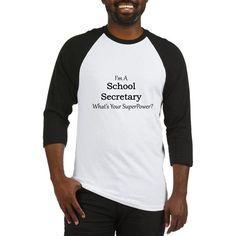 School Secretary Baseball Jersey