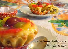 Johanna's recipes: Mini fruits tarts Mini Fruit Tarts, Breakfast, Recipes, Food, Morning Coffee, Mini Fruit Pies, Recipies, Essen, Meals