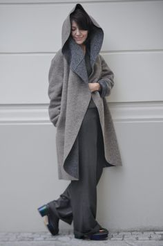 My Mother would love this coat! Ooch50.com - fashion blogger from Poland. I can't believe she's in mid 50s!