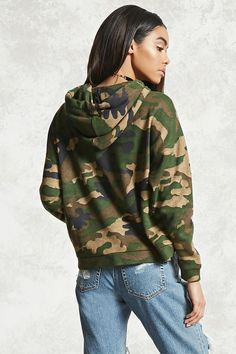 Camo Print Hoodie from Forever 21. Saved to Fr get. Shop more products from Forever 21 on Wanelo.