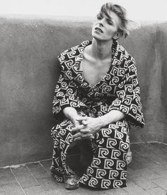 David Bowie (backstage photo).