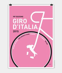 Graphic Wall Art - Digital Art - My Giro D'italia Minimal Poster 2015 by Chungkong Art