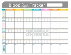 Blood Sugar Tracker - Printable for Health, Medical, Fitness - INSTANT DOWNLOAD on Etsy, $3.50