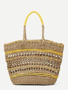 Vintage Bags cut-out tote bag. Vintage Bags, Vintage Handbags, Vintage Diy, Mermaid Blanket, Summer Bags, Boho, Straw Bag, Leather Bag, Shopping Bag